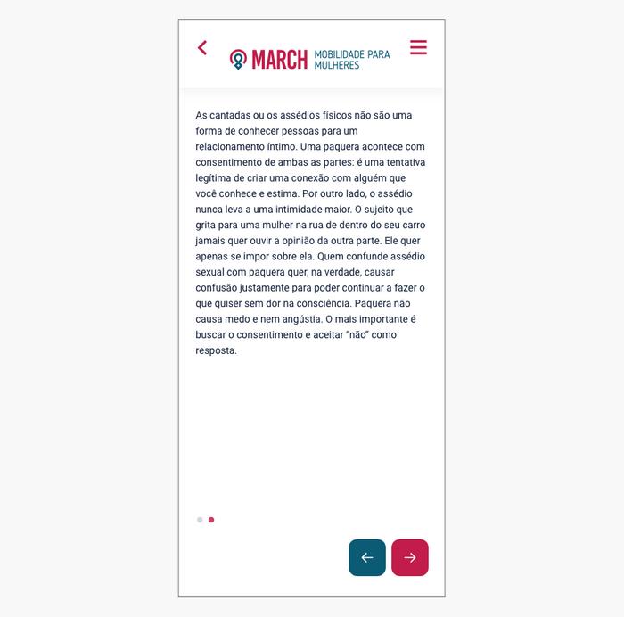 Prototipo alta fidelidade tela de texto