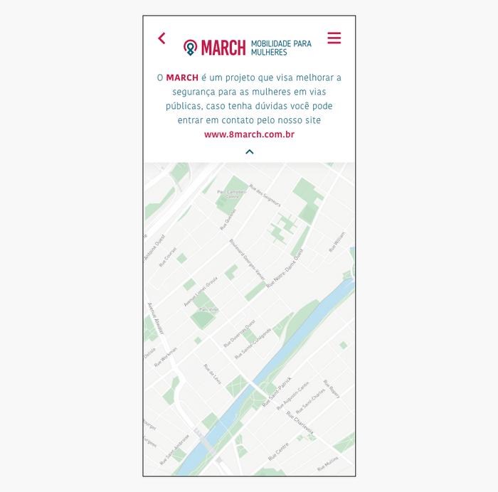 Prototipo alta fidelidade tela de maps informação
