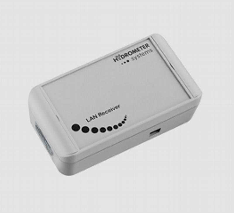 Receptor usado para leitura do medidor fixo ou remoto em residências, condomínios, escritórios, indústrias e pequenos comércios.
