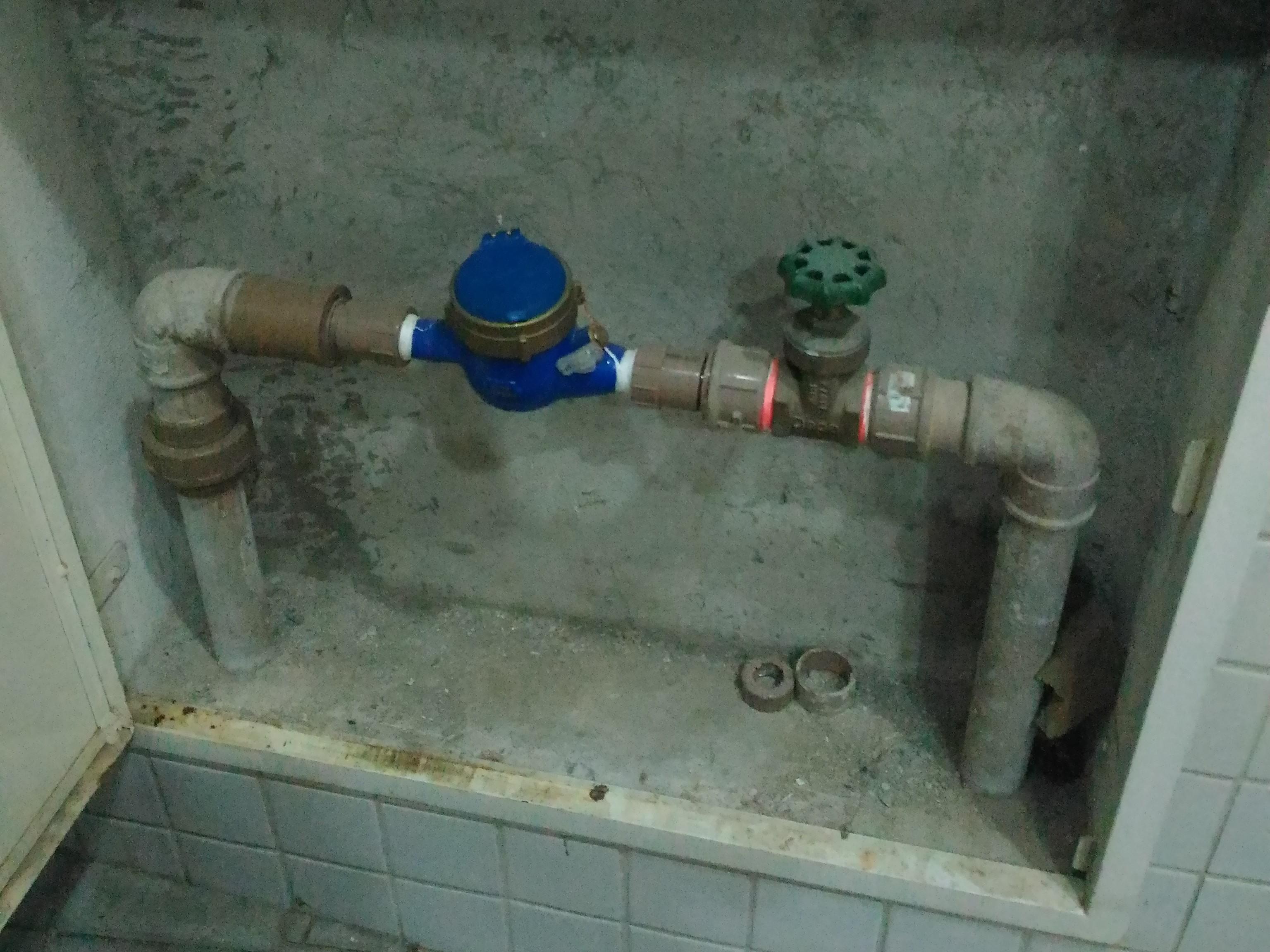 Hidrômetro geral para medição de consumo de água do Residencial Fausto Guilherme