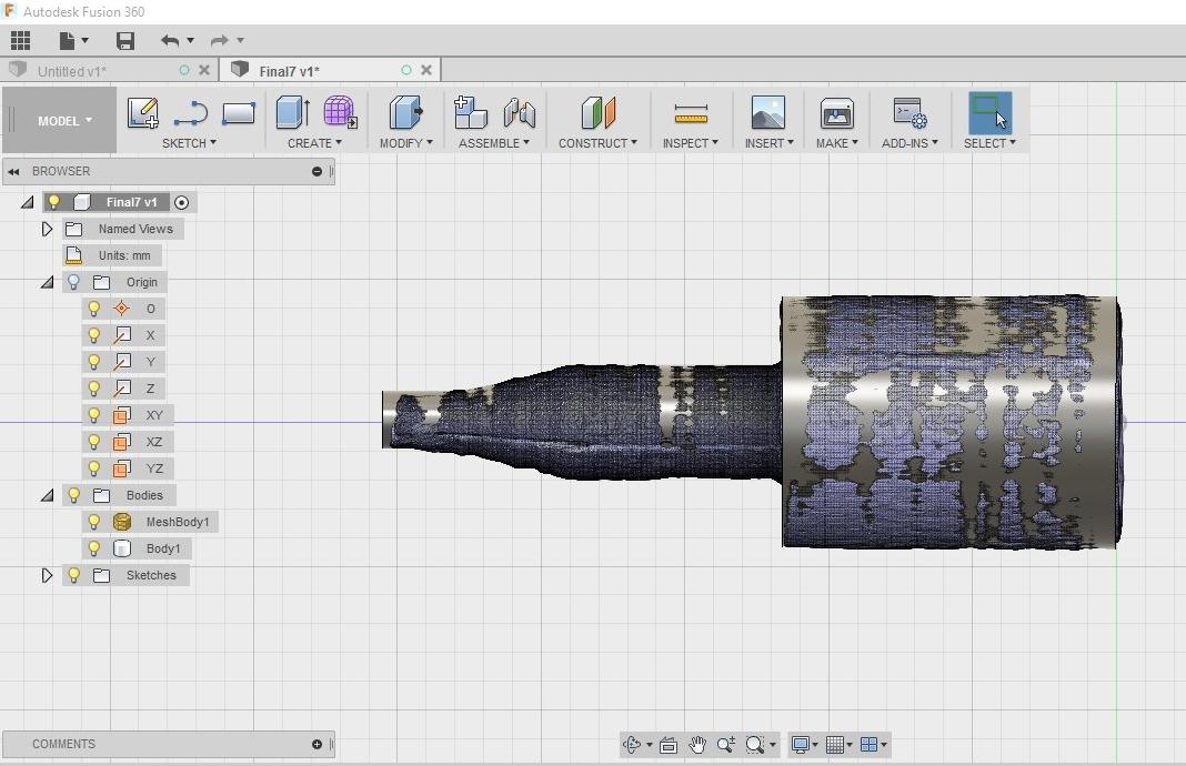 AutoCAD Fusion 360 - Esboço a partir de STL