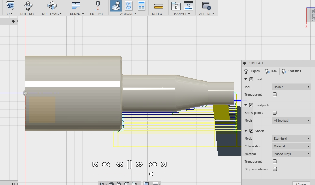 AutoCad Fusion 360 - Simulador de processo de usinagem