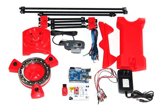 Componentes do Scanner 3d Ciclop