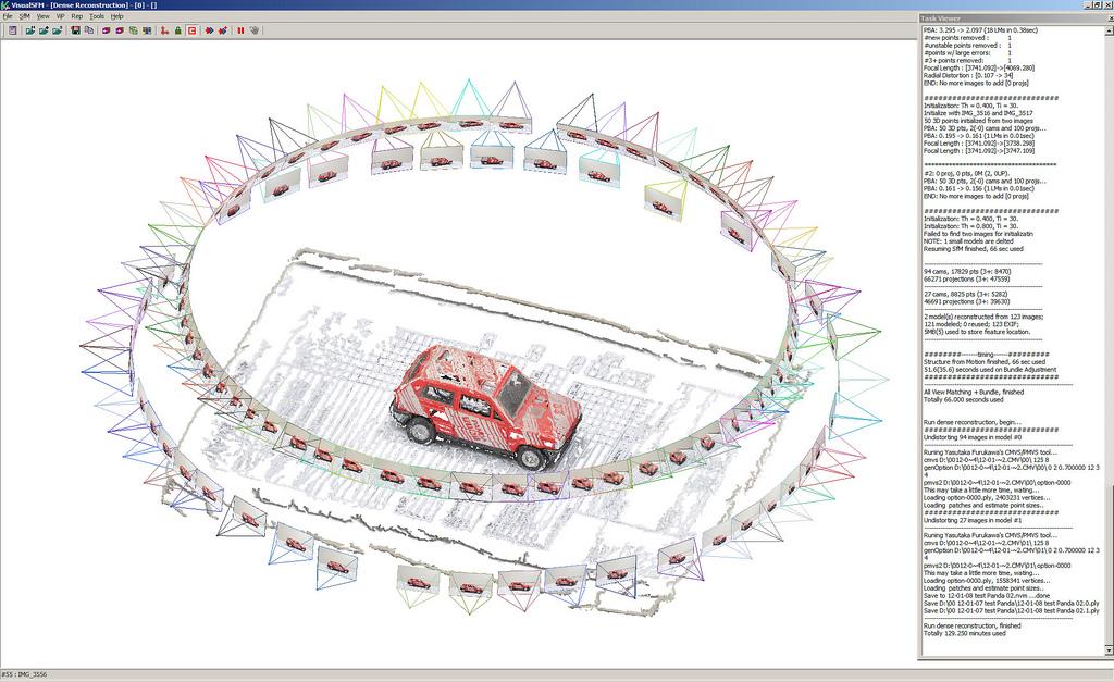 Tela do Software VisualSFM