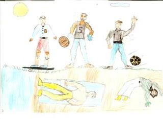 Desenho da criança durante a fase do Pseudo-Naturalismo.