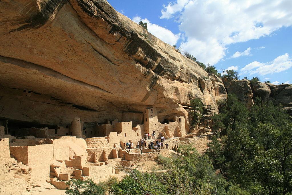 Palácio do Penhasco ou Cliff Palace no Parque Nacional de Mesa Verde