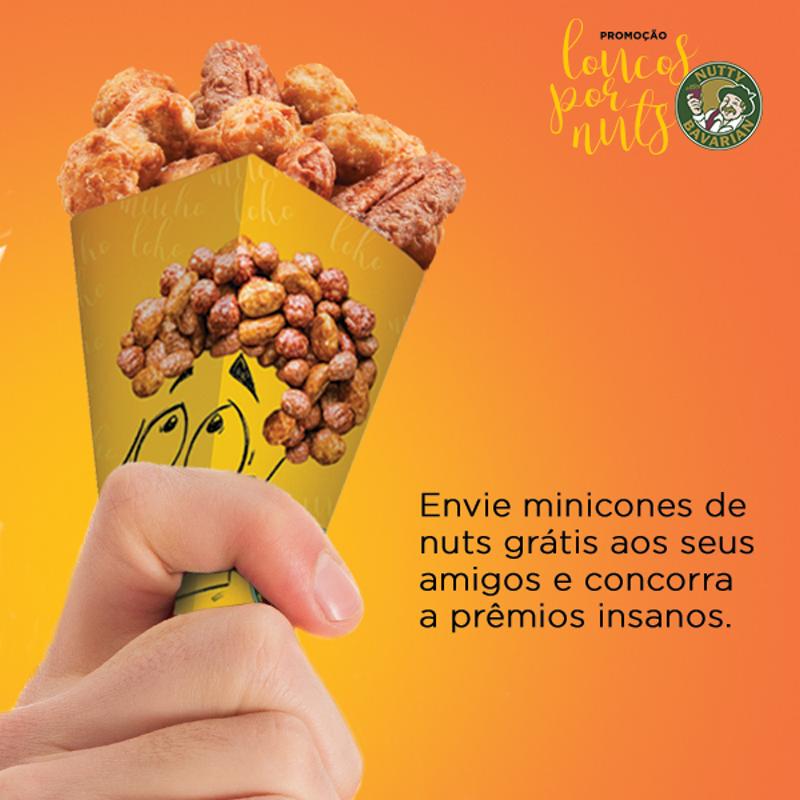 """Material Promocional """"Loucos por Nuts"""""""