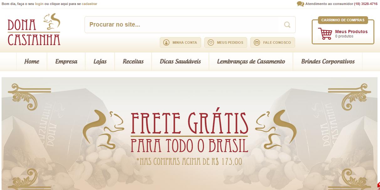 Site Dona Castanha