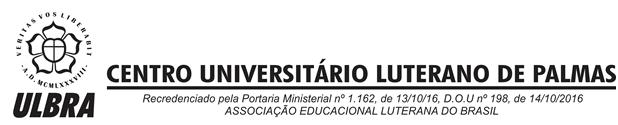 CENTRO UNIVERSITÁRIO LUTERANO DE PALMAS