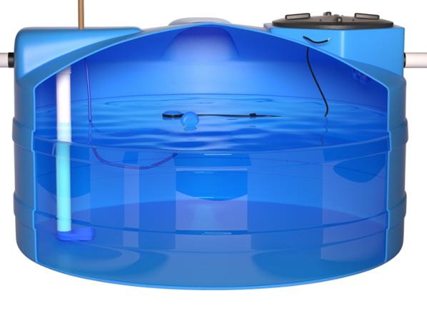 Caixa d'água com sistema de reuso