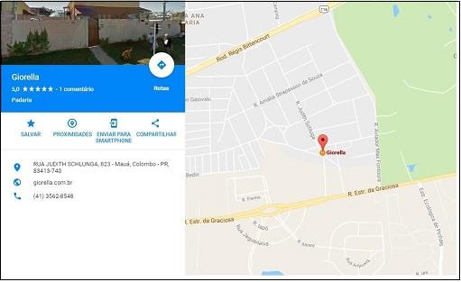 Localização Giorella