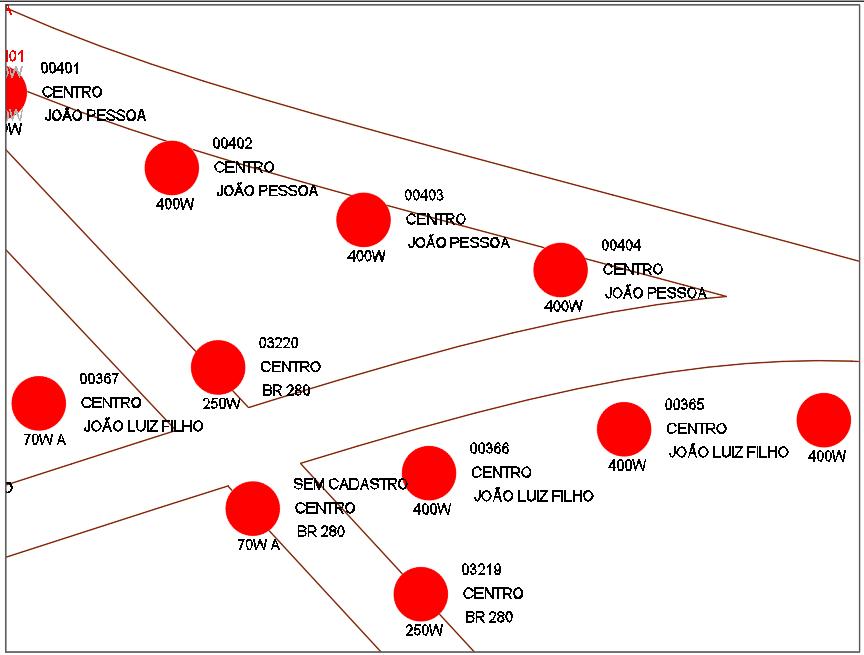 Exemplo de cadastro georreferenciado - Araquari/SC