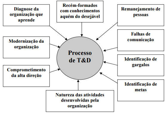 Algumas razes geradoras da necessidade da aplicação de T&D.