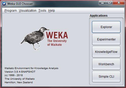 Interface WEKA