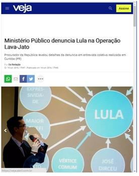 Cobertura da mídia sobre o indiciamento de Lula no caso Tríplex em 2016