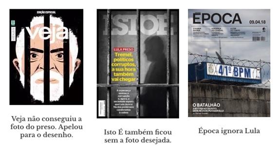 – Cobertura da mídia sobre a prisão de Lula