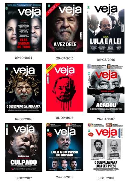 Cronologia de capas da Revista Veja sobre Lula