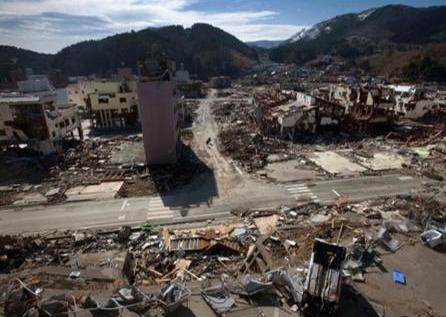 Destruição das residências e da infraestrutura urbana