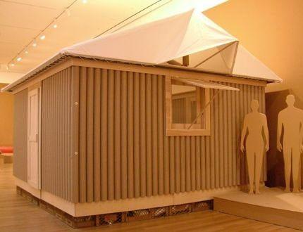 Réplica exata da Paper Log House de 1995
