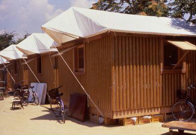 Paper Log House inserida no Japão em 1995