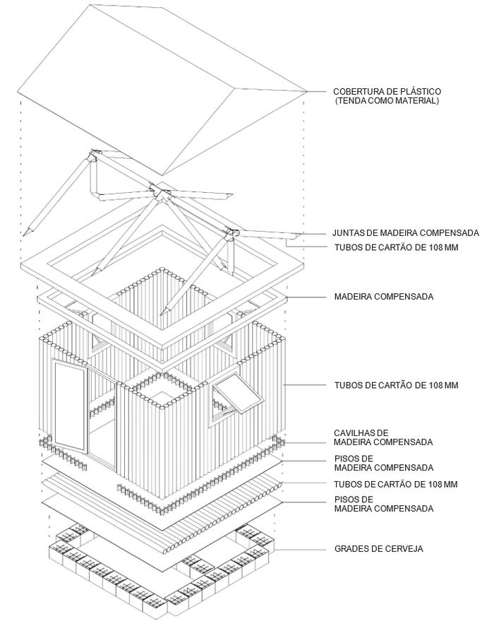 Esquema representativo do abrido Paper Log House