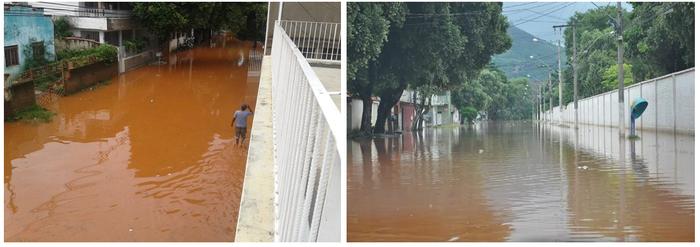 Inundação em 2016 nos bairros São Pedro e São Paulo