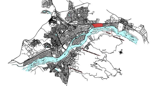 Localização do bairro São Pedro no município