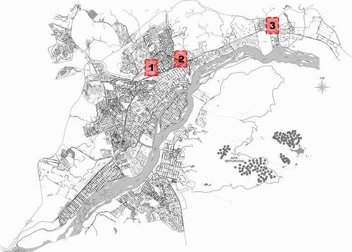 Localização dos terrenos em Governador Valadares, MG