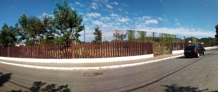 Frente do terreno, rua Luis Ensh