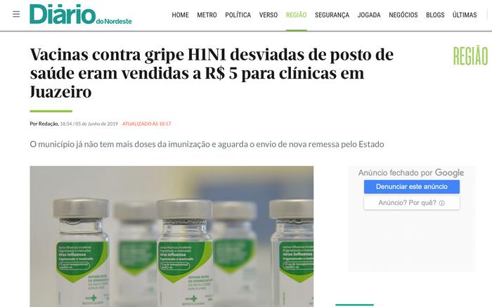 Desvio de vacinas em Juazeiro