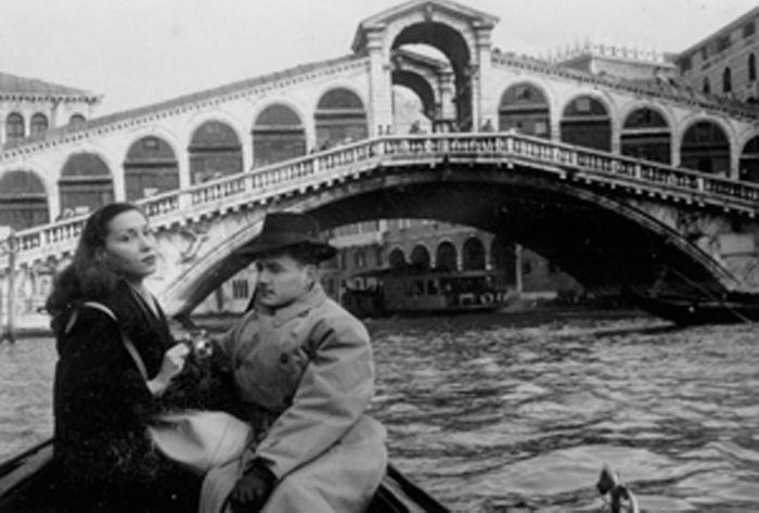 Clarice e Maury em Veneza. Década de 1940.