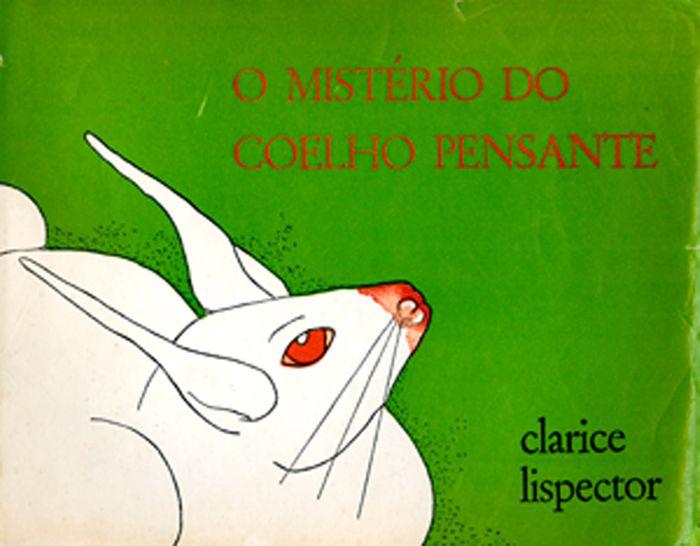 Capa da primeira edição do livro infantil O mistério do coelho pensante (Rio de Janeiro: José Álvaro, 1967).