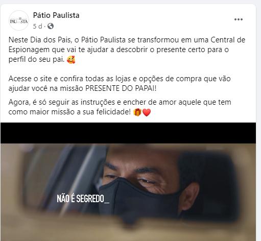 Post - Ação promocional Pátio Paulista