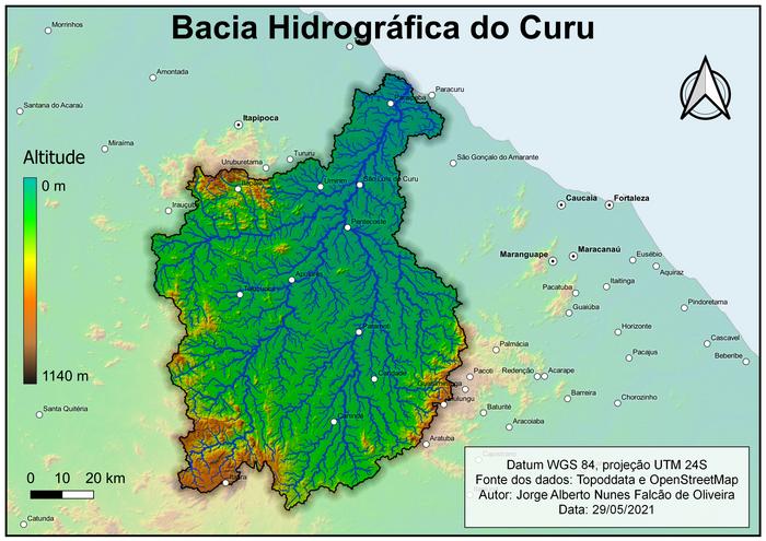 BCH com visualização da altitude e principais cidades