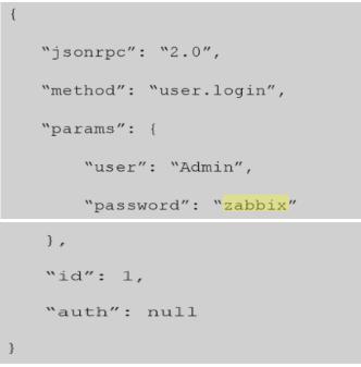 Requisição no formato JSON