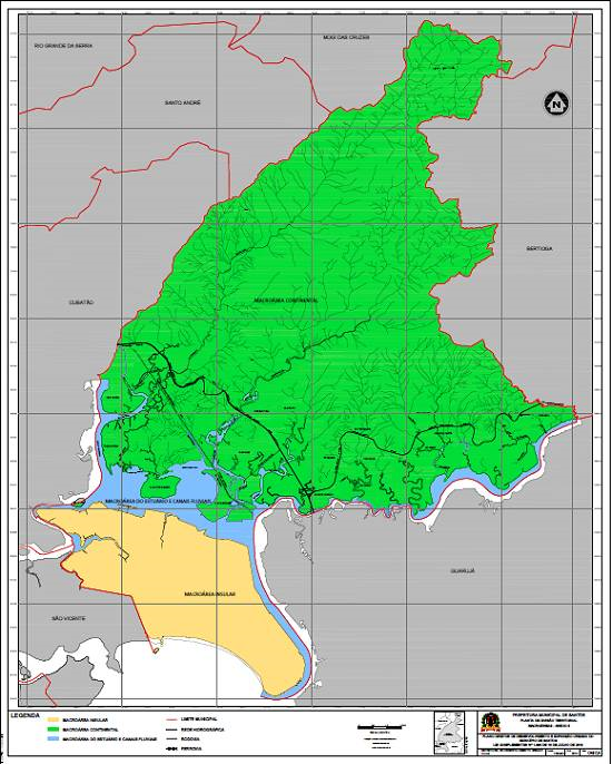 Map santos