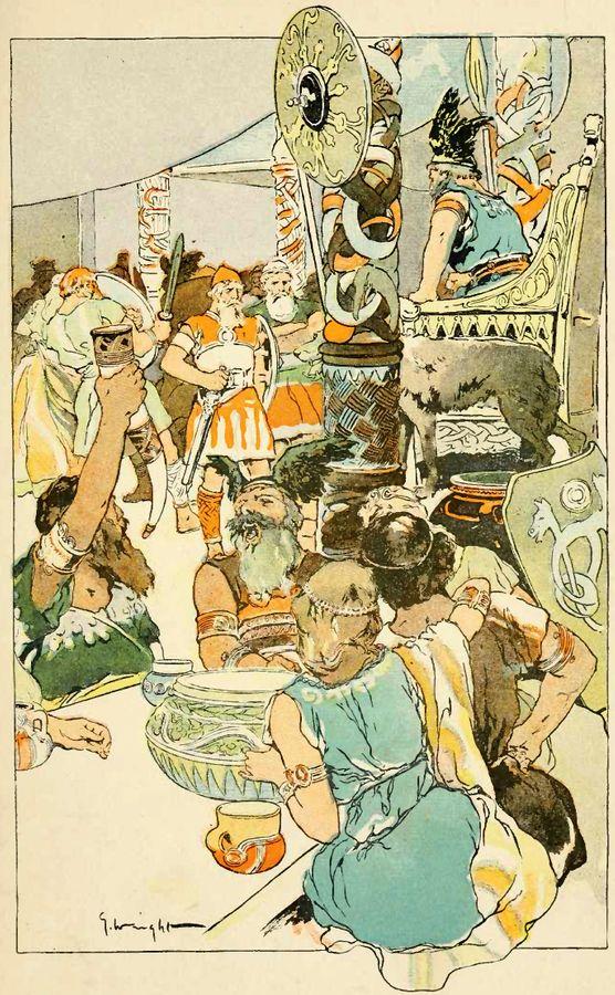 Banquete no Valhala, Carl Emil Doepler , 1905