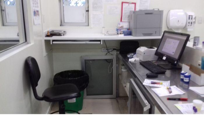 area de recepção e recebimento de material