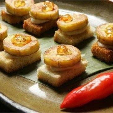 Chips de banana com geleia de pimenta