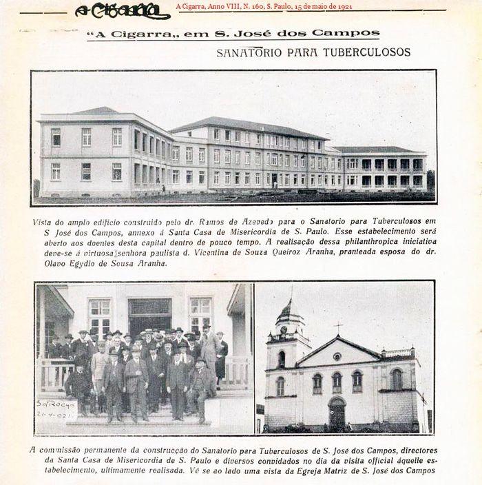 Propaganda do Sanatório Vicentina Aranha para tuberculosos – Década de 1920.