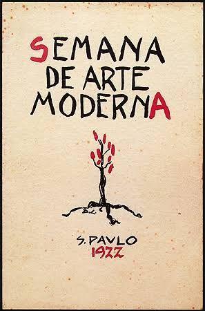 Capa do catálogo da exposição da Semana de Arte Moderna, 1922 , Di Cavalcanti.