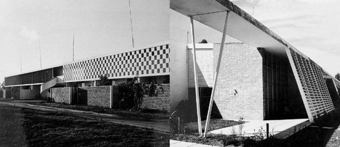 Edificações construídas para o CTA baseadas no projeto original de Niemeyer