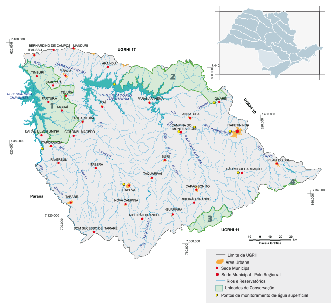 Bacia hidrográfica Paraíba do Alto Paranapanema