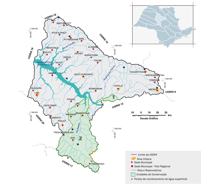 Bacia hidrográfica Paraíba do Tietê/Batalha Sul