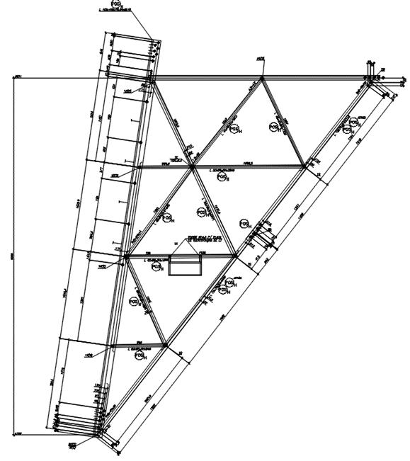 Desenho 2D gerado automaticamente a partir do modelo 3D