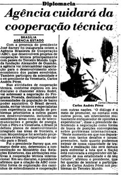 Notícia publicada no jornal Estado de São Paulo em 1987.