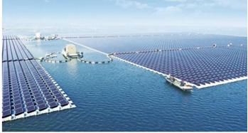 Maior usina solar flutuante do mundo, localizada na china