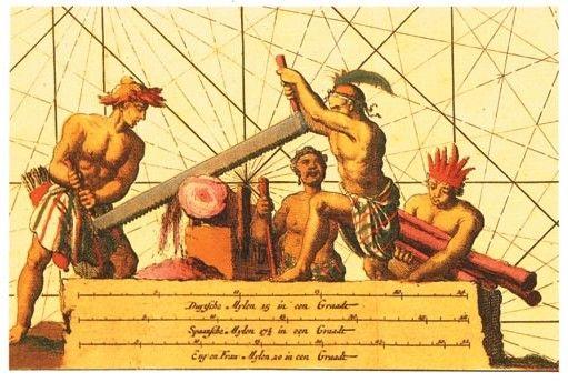 Carta de Tusschen Bahia Baxa (Punto de Lucena)