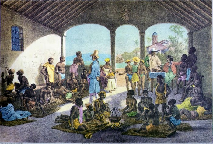 Mercado de Escravos, Rugendas 1835.