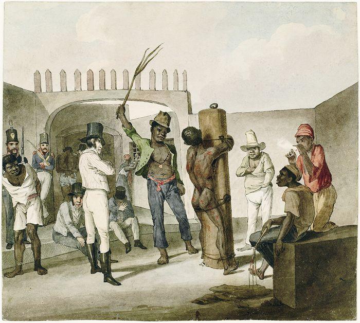 Punição de Negros no Calabouço, de Augustus Earle, 1822.